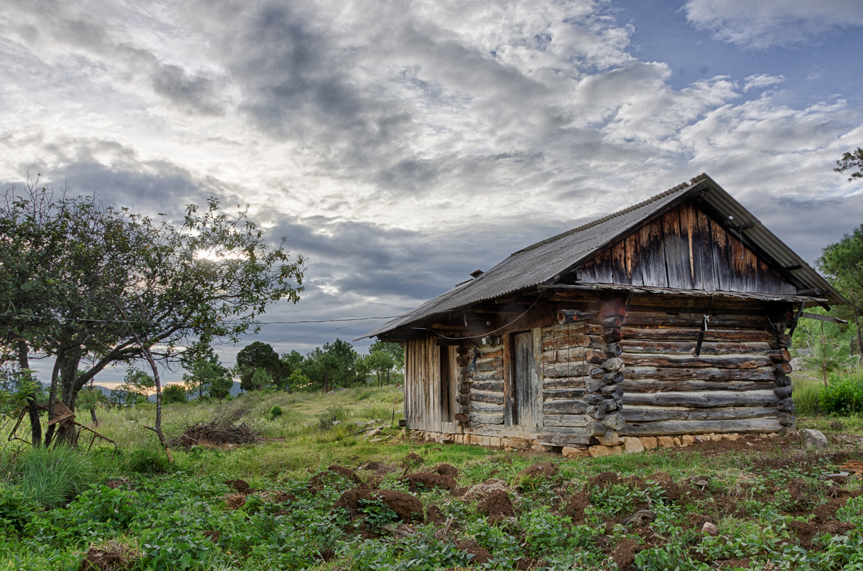 Superb img of Log Cabin in Ticua with #48632F color and 1240x821 pixels